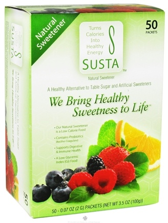 DROPPED: Susta - Natural Sweetener - 50 Packet(s)