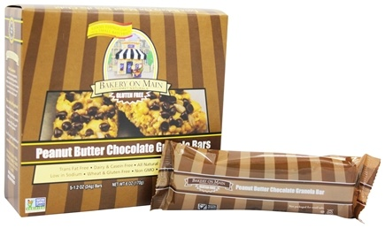DROPPED: Bakery On Main - Granola Bars Gluten Free Peanut Butter Chocolate 5 x 1.2 oz. Bars - 6 oz.