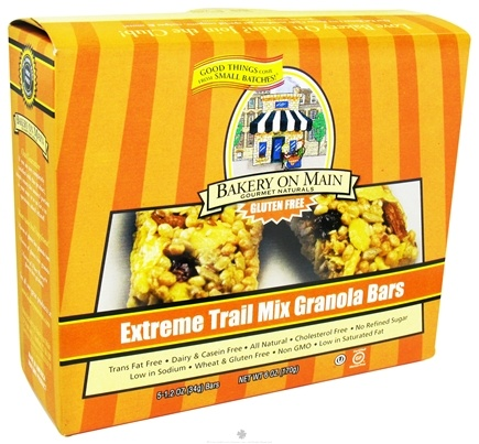 DROPPED: Bakery On Main - Granola Bars Gluten Free Extreme Trail Mix 5 x 1.2 oz. Bars - 6 oz. CLEARANCE PRICED