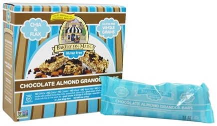DROPPED: Bakery On Main - Granola Bars Gluten Free Soft & Chewy Chocolate Almond 5 x 1.2 oz. Bars - 6 oz.