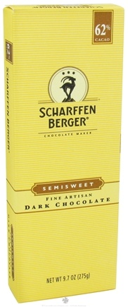 DROPPED: Scharffen Berger - Baking Chocolate Bar 62% Cacao Semisweet - 9.7 oz.