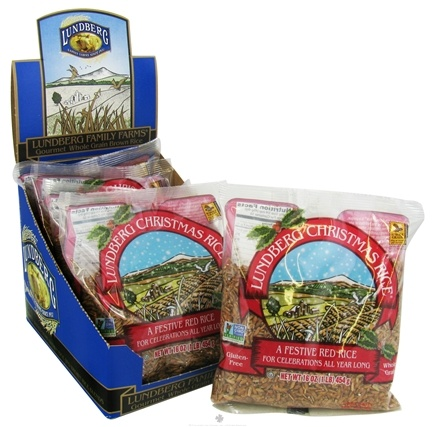 DROPPED: Lundberg Family Farms - Christmas Rice A Festive Red Rice - 16 oz. CLEARANCE PRICED