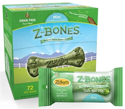 Zoom View - Z-Bones Natural Edible Dental Chews Mini