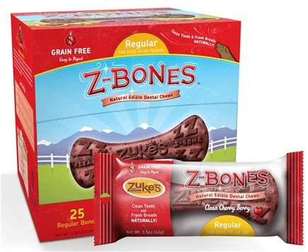 Zoom View - Z-Bones Natural Edible Dental Chews Regular