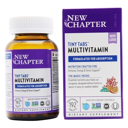 New Chapter - Tiny Tabs Whole-Food Multivitamin - 192 Tablets