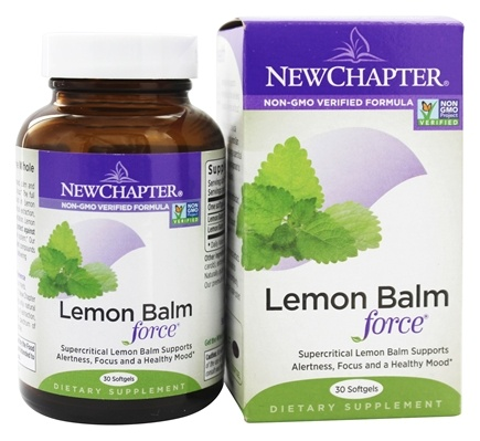 DROPPED: New Chapter - Lemon Balm Force - 30 Softgels
