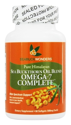 Seabuck Wonders - Sea Buckthorn Oil Blend Omega-7 Complete 500 mg. - 60 Softgels