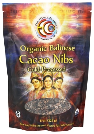 Earth Circle Organics - 100% Raw Balinese Cacao Nibs - 8 oz.