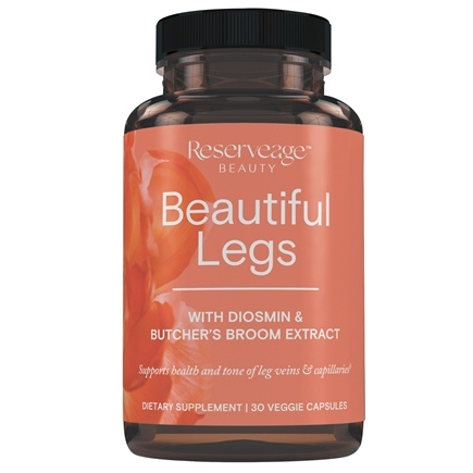 Reserveage Nutrition - Beautiful Legs Advanced with Diosmin & Resveratrol - 30 Capsules