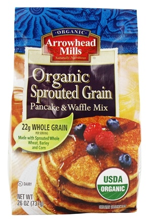 Arrowhead Mills - Organic Sprouted Grain Pancake & Waffle Mix - 26 oz.