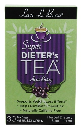 Laci Le Beau - Super Dieter's Tea Cleanse with Acai Berry - 30 Tea Bags
