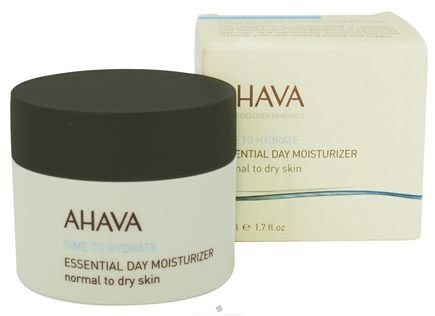 DROPPED: AHAVA - Time To Hydrate Essential Day Moisturizer For Normal To Dry Skin - 1.7 oz. CLEARANCE PRICED