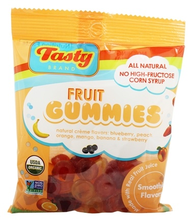 DROPPED: Tasty Brand - Organic Smoothie Fruit Snacks Gummies For Kids 2-102 - 2.75 oz.
