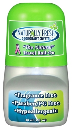 DROPPED: Naturally Fresh - Naturally Fresh Deodorant Crystal Travel Roll-On Fragrance Free - 30 ml.