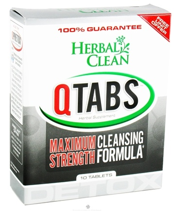 DROPPED: BNG Enterprises - Herbal Clean QTabs Maximum Strength Cleansing Formula - 10 Tablets