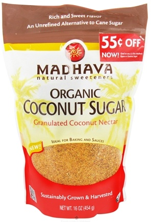 DROPPED: Madhava Natural Sweeteners - Organic Coconut Sugar Granulated Coconut Nectar - 16 oz.
