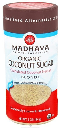 DROPPED: Madhava Natural Sweeteners - Organic Coconut Sugar Blonde Granulated Coconut Nectar - 5 oz.