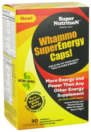 DROPPED: Super Nutrition - Whammo Super Energy Caps - 30 Capsules