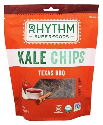 DROPPED: Rhythm Superfoods - Organic Kale Chips Texas BBQ - 2 oz.