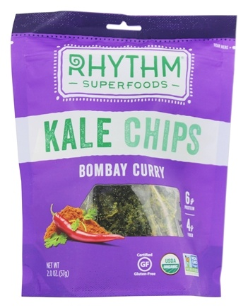 Rhythm Superfoods - Organic Kale Chips Bombay Curry - 2 oz.