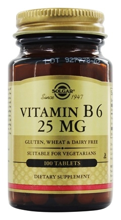 Solgar - Vitamin B6 25 mg. - 100 Tablets