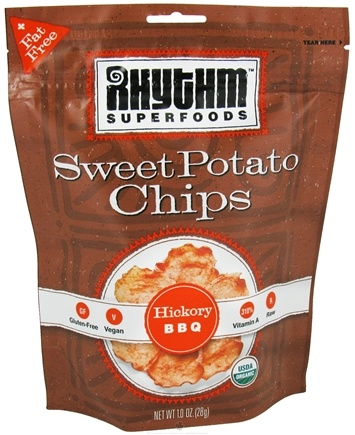 DROPPED: Rhythm Superfoods - Organic Sweet Potato Chips Hickory BBQ - 1 oz.