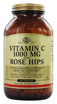 Solgar - Vitamin C With Rose Hips 1000 mg. - 250 Tablets