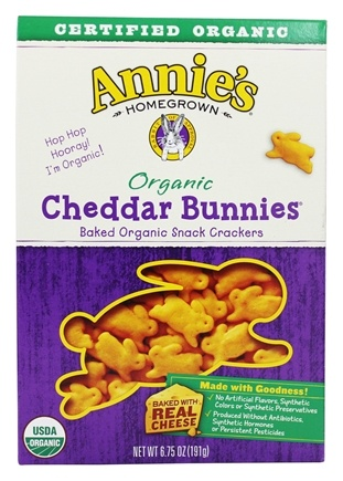 DROPPED: Annie's - Organic Bunnies Baked Snack Crackers Cheddar - 6.75 oz.