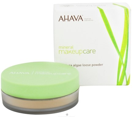 DROPPED: AHAVA - Mineral Makeup Care DeadSea Algae Loose Powder Fragrance-Free Bright Dune - 0.18 oz. CLEARANCE PRICED