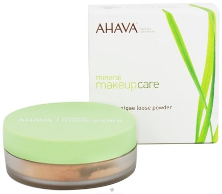 DROPPED: AHAVA - Mineral Makeup Care DeadSea Algae Loose Powder Fragrance-Free Dark Terra - 0.18 oz. CLEARANCE PRICED