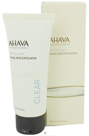 DROPPED: AHAVA - Time To Clear Facial Mud Exfoliator - 3.4 oz. CLEARANCE PRICED
