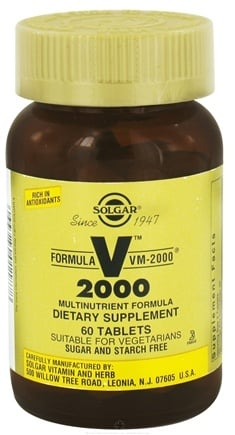 DROPPED: Solgar - Formula VM 2000 Multinutrient Formula - 60 Tablets