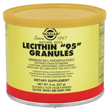 DROPPED: Solgar - Lecithin 95 Granules Minimum 95% Phosphatides - 8 oz. CLEARANCE PRICED