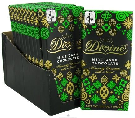 DROPPED: Divine - Dark Chocolate Bar Mint - 3.5 oz.