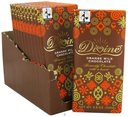 DROPPED: Divine - Milk Chocolate Bar Orange - 3.5 oz. CLEARANCE PRICED