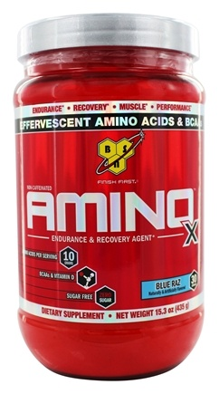 DROPPED: BSN - Amino X BCAA Powder Endurance and Recovery Agent Blue Raz - 15.3 oz.