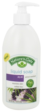 DROPPED: Nature's Gate - Liquid Soap Velvet Moisture Acai - 16 oz. CLEARANCE PRICED