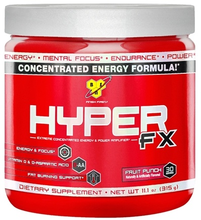 DROPPED: BSN - Hyper FX Extreme Concentrated Energy & Power Amplifier Fruit Punch - 11.1 oz.