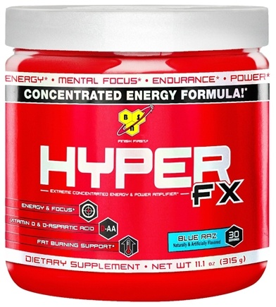 DROPPED: BSN - Hyper FX Extreme Concentrated Energy & Power Amplifier Blue Raz - 11.1 oz.