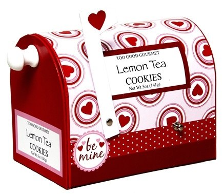 DROPPED: Too Good Gourmet - Lemon Tea Cookies Valentine Mail Boxes - 5 oz. CLEARANCE PRICED