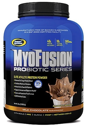 DROPPED: Gaspari Nutrition - Myofusion Probiotic Series Protein Milk Chocolate - 5 lbs.