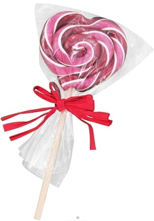 DROPPED: Hammond's Candies - Heart Lollipops All Natural Cherry - 2 oz. CLEARANCE PRICED