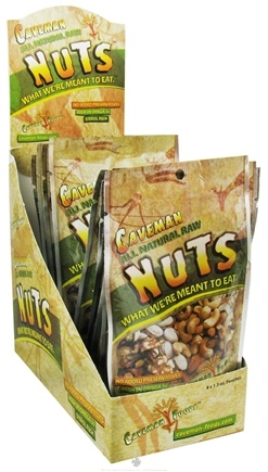 DROPPED: Caveman Foods - Caveman All Natural Raw Nuts - 1.3 oz. CLEARANCE PRICED