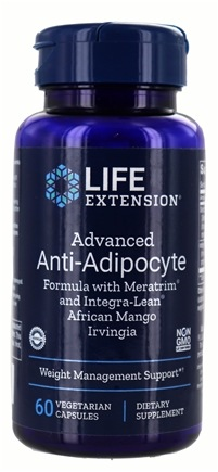 Life Extension - Advanced Anti-Adipocyte Formula with Meratrim - 60 Vegetarian Capsules