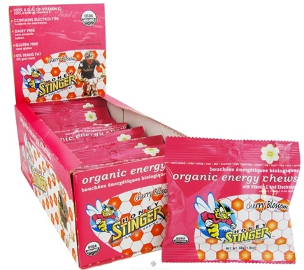 DROPPED: Honey Stinger - Energy Chews Organic Cherry Blossom - 1.8 oz.