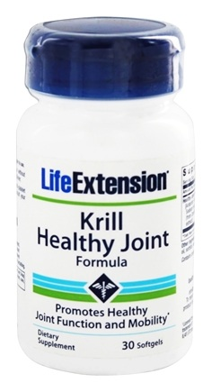 DROPPED: Life Extension - Krill Healthy Joint Formula - 30 Softgels