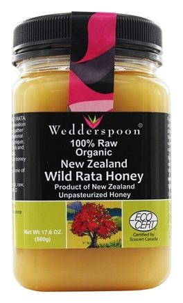 DROPPED: Wedderspoon - 100% Raw Organic New Zealand Wild Rata Honey - 17.6 oz.
