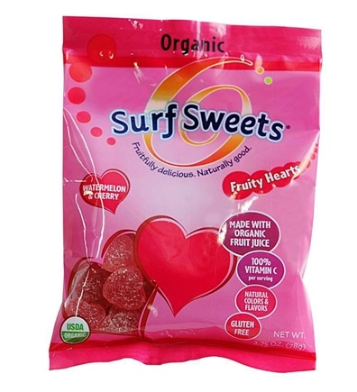DROPPED: Surf Sweets - Fruity Hearts Organic Watermelon & Cherry - 2.75 oz.