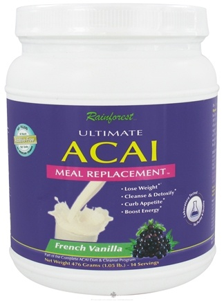 DROPPED: Rainforest - Ultimate Acai Meal Replacement French Vanilla - 1.05 lbs.