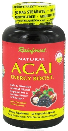 DROPPED: Rainforest - Natural Acai Energy Boost - 60 Vegetarian Capsules